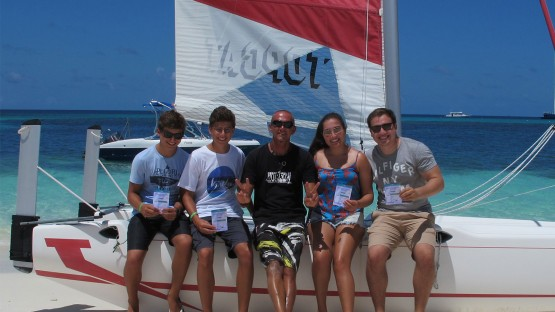 Catarmaran sailing Maldives watersports Kuredu